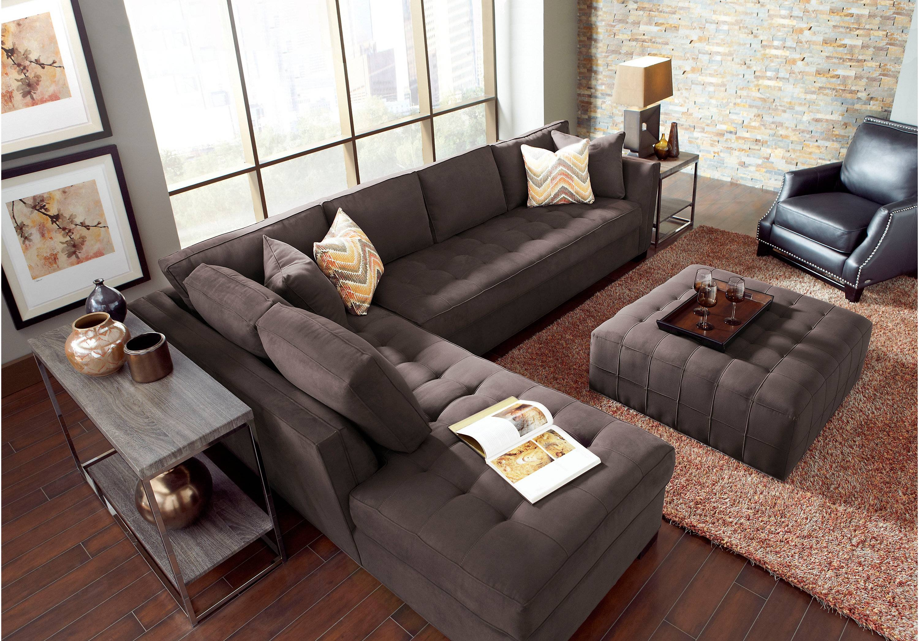Furniture: Cindy Crawford Sectional Sofas | Cindy Crawford Leather with regard to Cindy Crawford Sectional Couches (Image 7 of 15)
