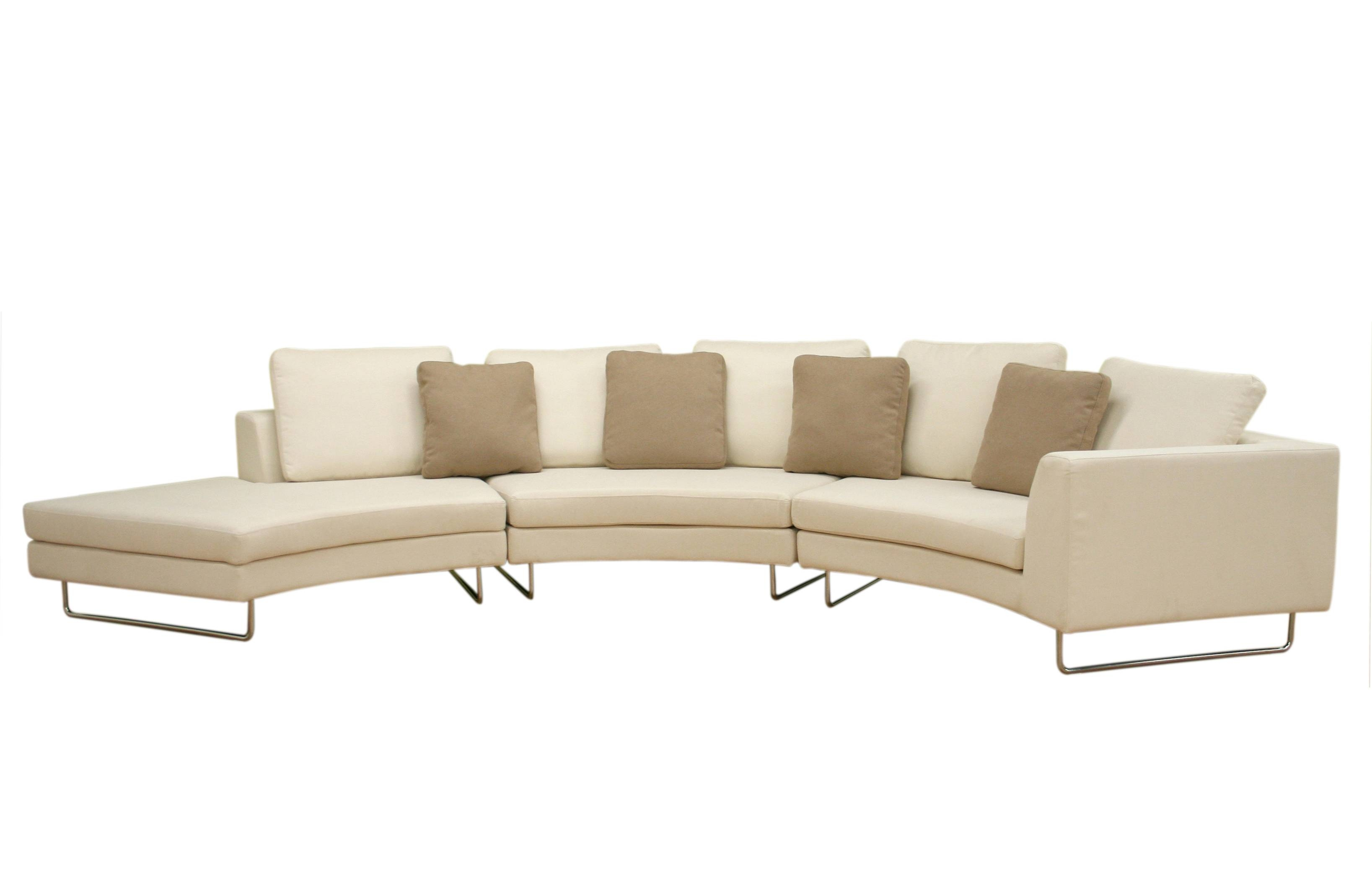 Furniture: Create Your Comfortable Living Room Decor With Round With Regard To Half Moon Sectional Sofas (View 3 of 15)
