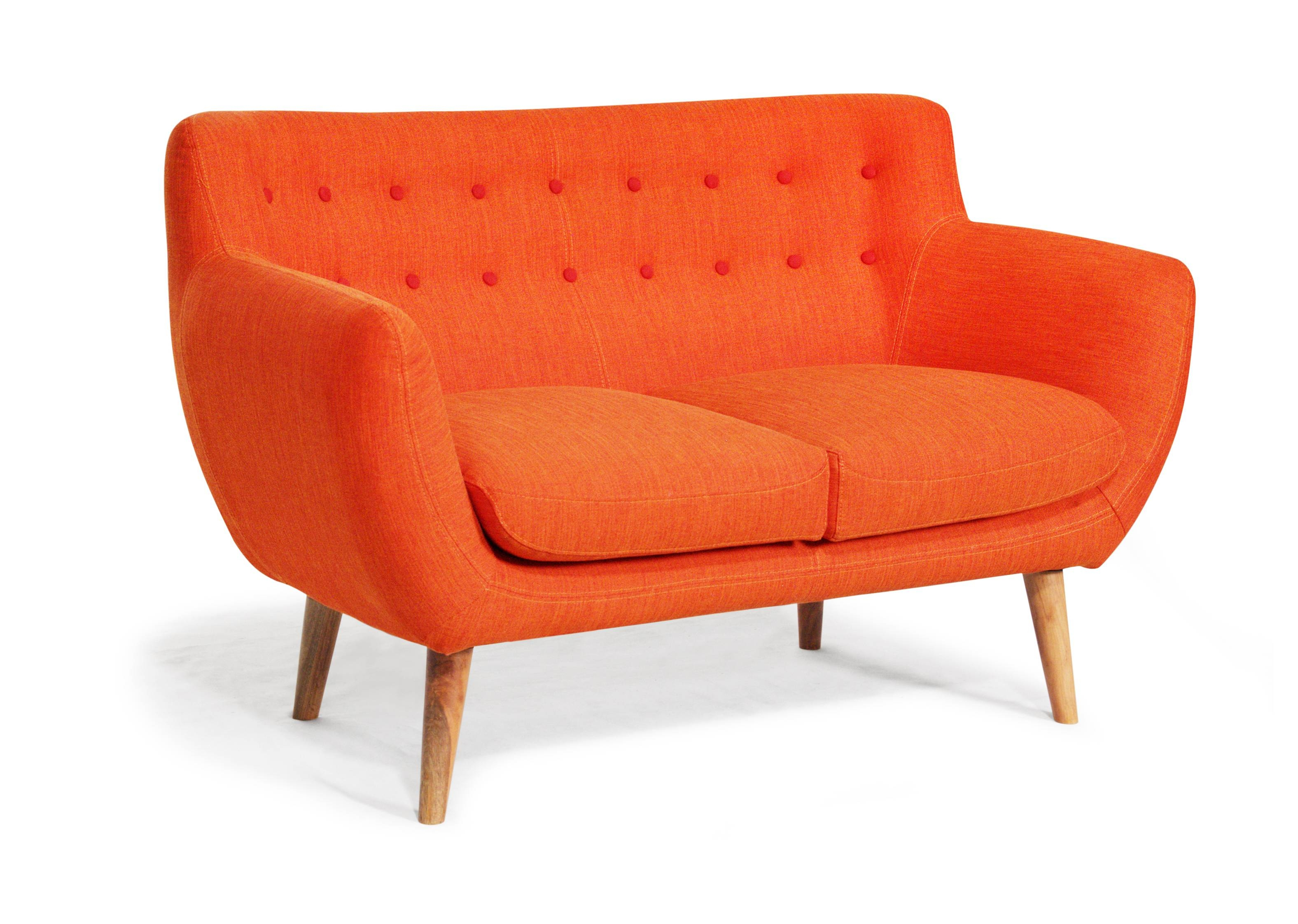 Furniture Designing Home View Rukle Dashing Orange Sofa For ~ Idolza intended for Orange Sofa Chairs (Image 6 of 15)