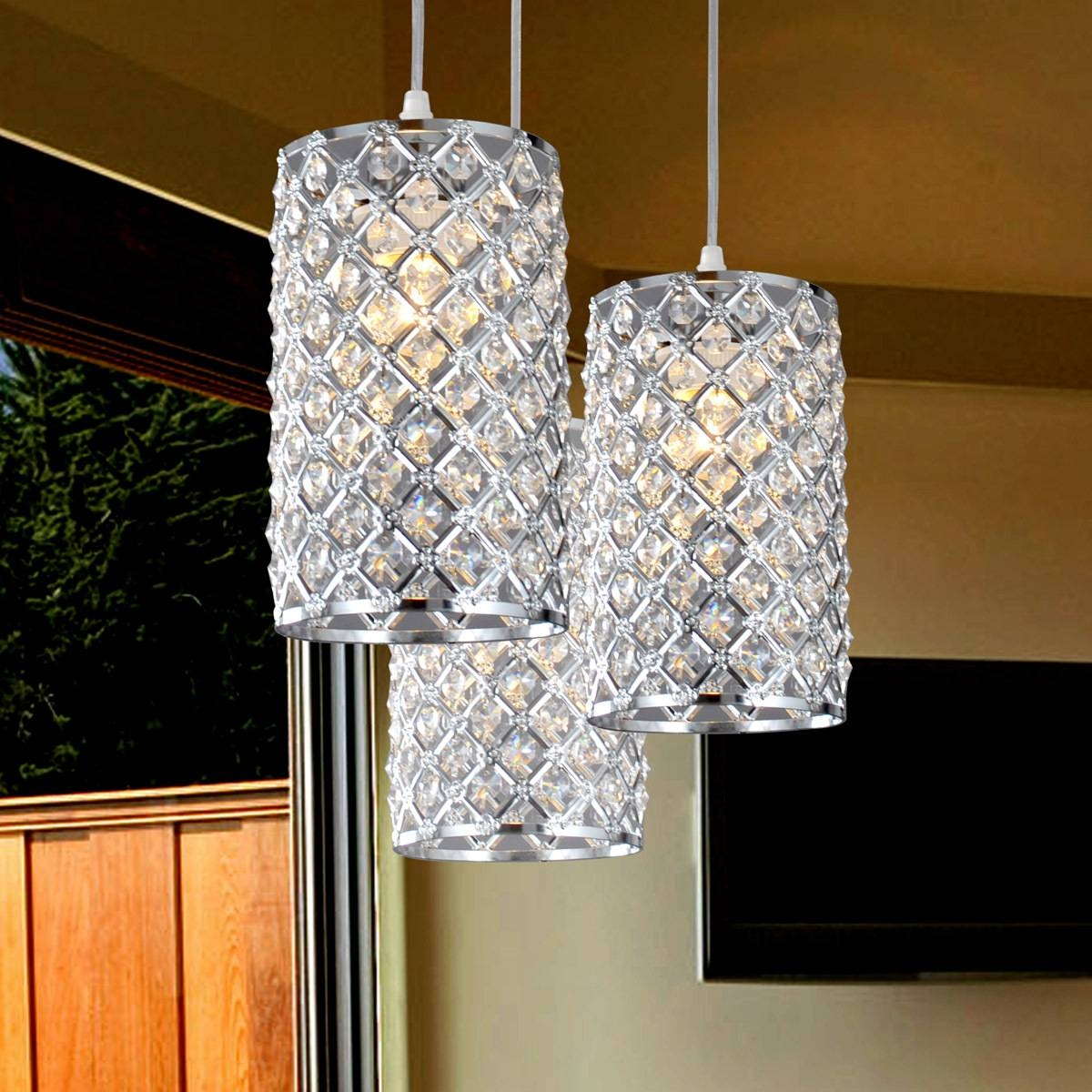 Furniture: Eiffel Tower Crystal Pendant Lights Modern Europe with Crystal Pendant Lights (Image 11 of 15)