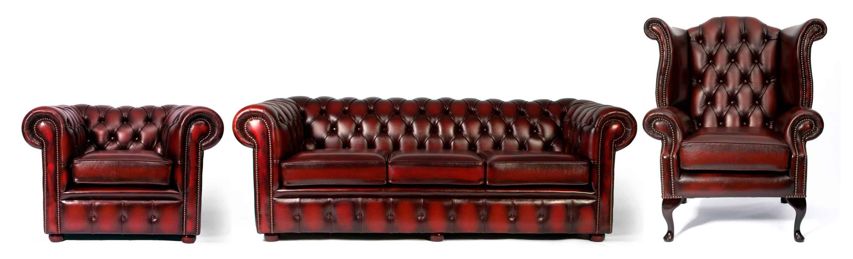 Furniture: Enchanting Chesterfield Couch For Living Room Furniture pertaining to Red Leather Chesterfield Sofas (Image 9 of 15)