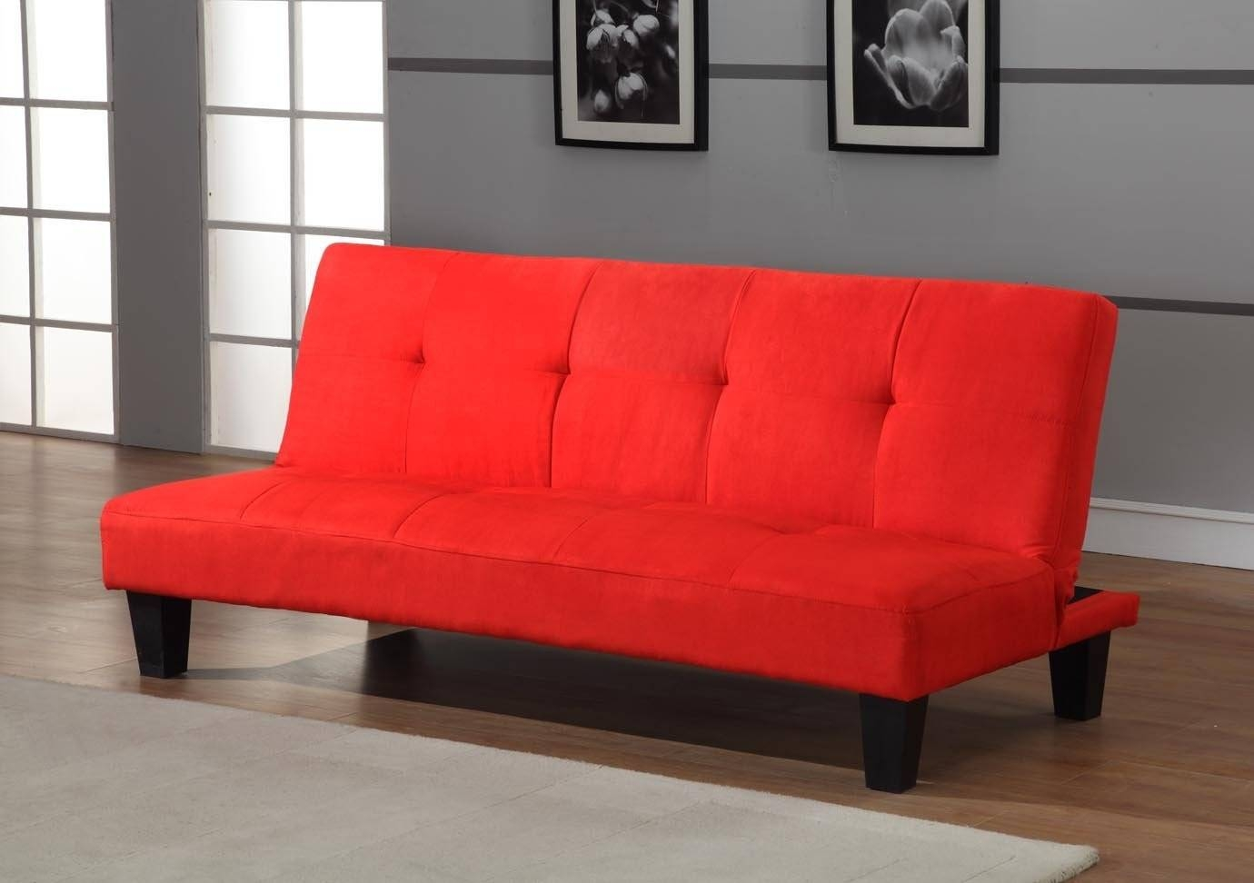 Furniture: Grey Kebo Futon Sofa Bed With Arms For Living Room in Kebo Futon Sofas (Image 4 of 15)