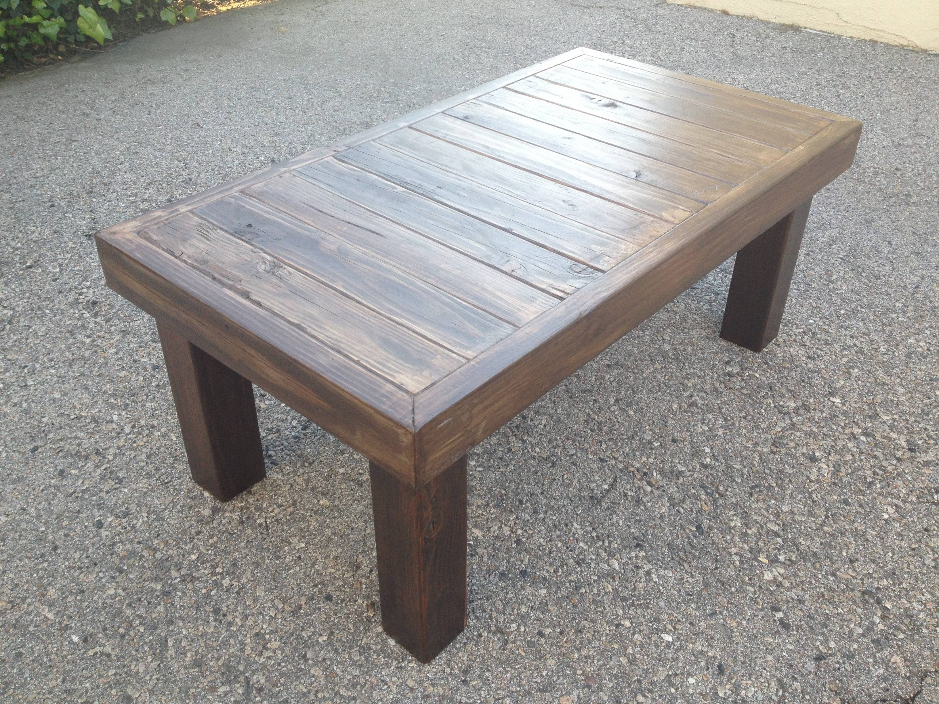 Furniture: Homemade Coffee Table | Barnwood Coffee Tables | Raw with Wooden Coffee Tables (Image 6 of 15)