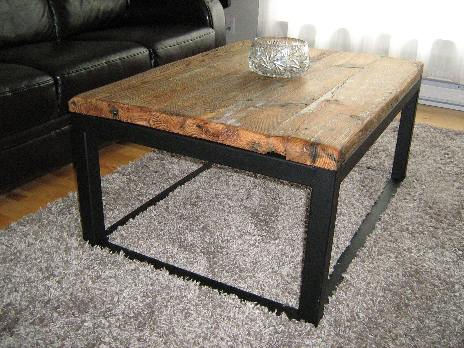Furniture. Inspiring Wood And Metal Coffee Tables As Your Living throughout Steel and Wood Coffee Tables (Image 8 of 15)
