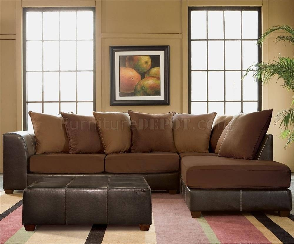 Furniture: Interesting Microfiber Sectional For Living Room within Chocolate Brown Microfiber Sectional Sofas (Image 6 of 15)