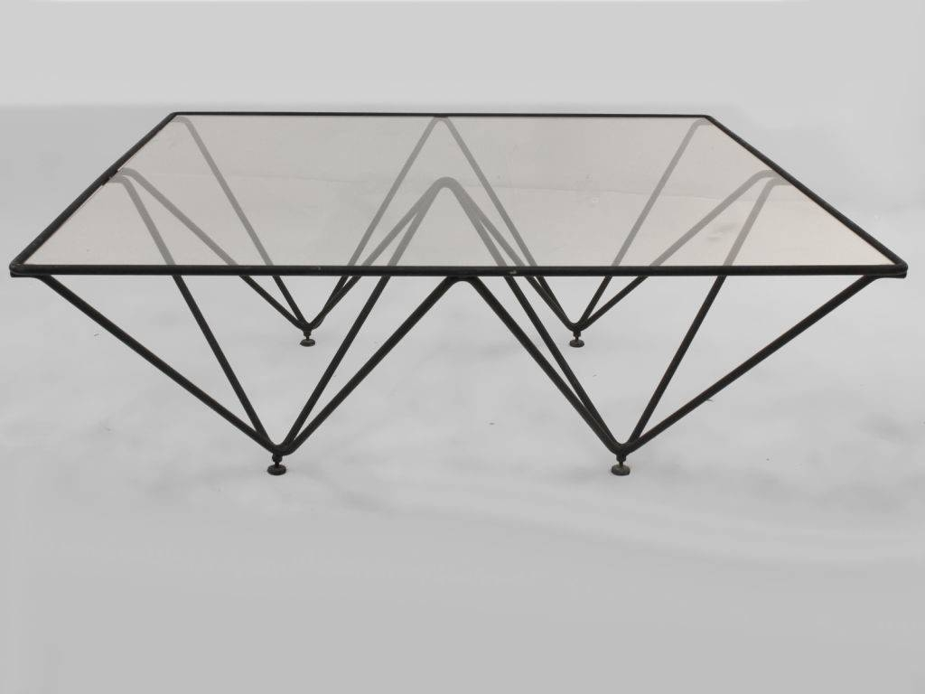 Furniture. Iron And Glass Coffee Table Ideas: Black Rectangle with regard to Iron Glass Coffee Table (Image 7 of 15)