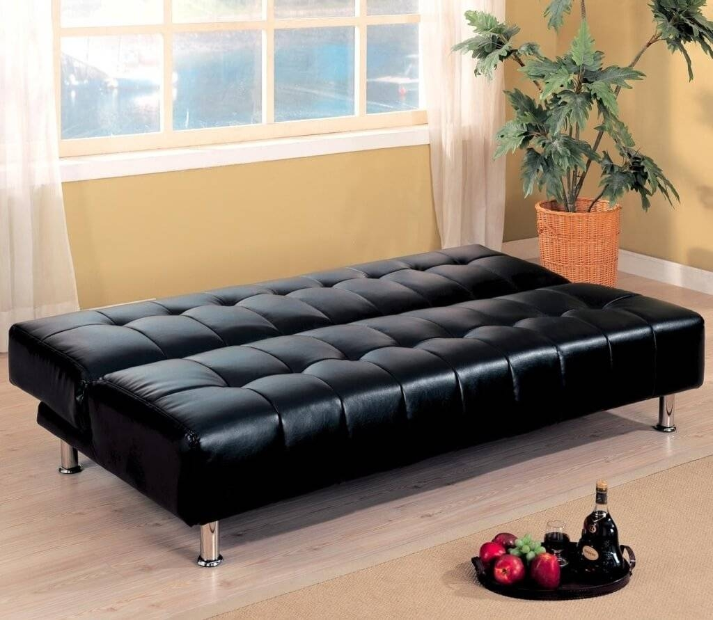 Furniture: Large Black Tufted Convertible Sofa Bed Ideas with Castro Convertible Sofa Beds (Image 9 of 15)