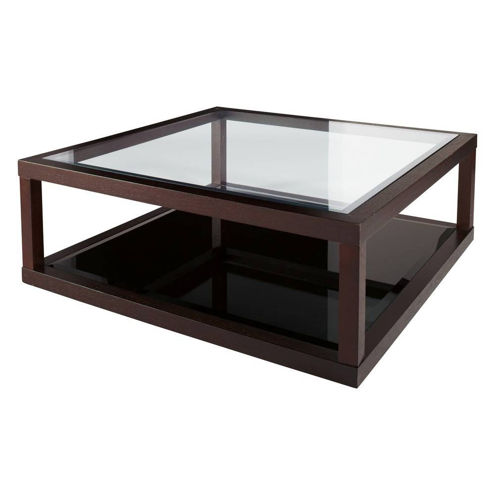 Furniture Large Modern Glass Coffee Table New 2017 With Regard To