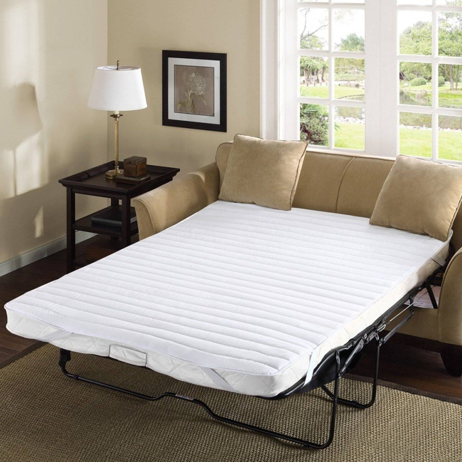 Furniture: Maintains Original Shape And Easily Folds With Sleeper Within Sleeper Sofas Mattress Covers (View 1 of 15)