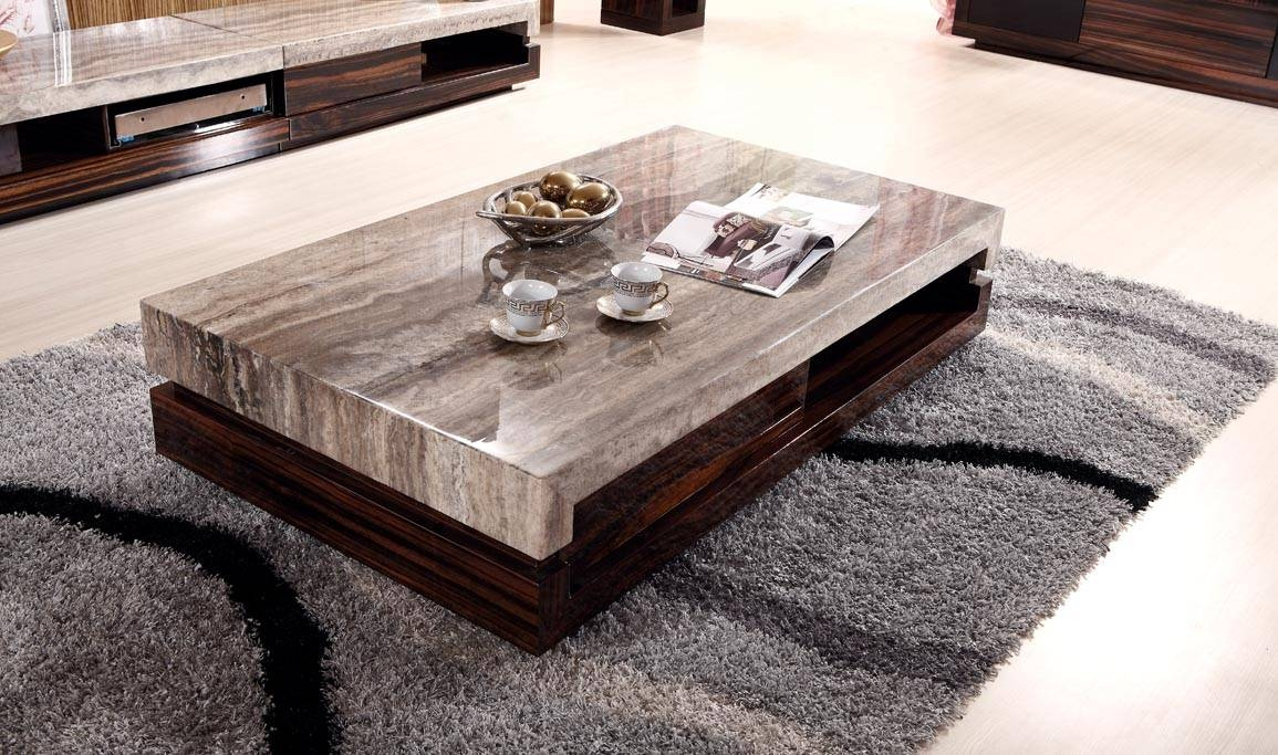 Furniture : Modern Coffee Table With Four Wooden Stools Complete Within Modern Coffee Table (View 5 of 15)