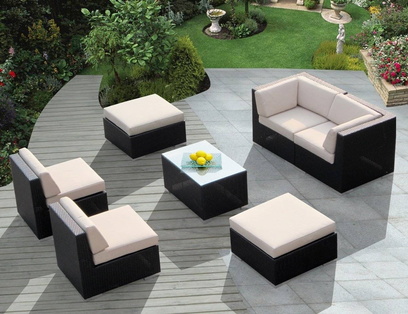 Furniture: Outdoor Wicker Patio Furniture Chairs With Brown Modern within Outdoor Sofas And Chairs (Image 6 of 15)