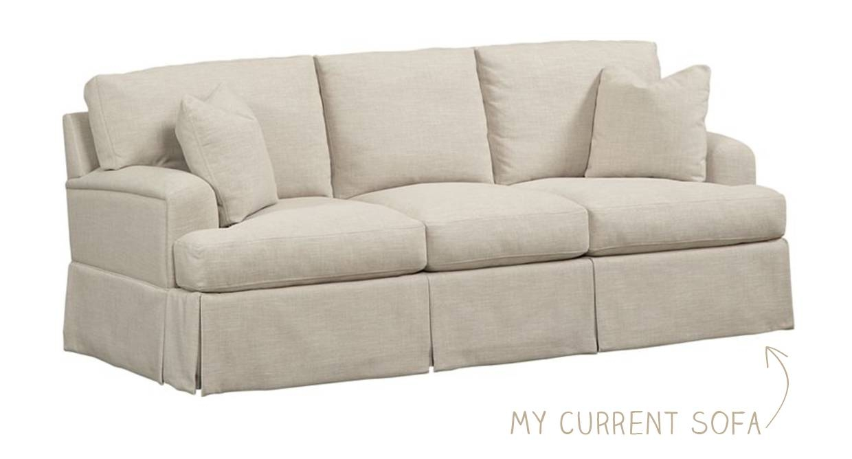 Furniture: Pretty Beige Havertys Sofa With Wooden Legs And Ottoman With Regard To Havertys Amalfi Sofas (View 9 of 15)