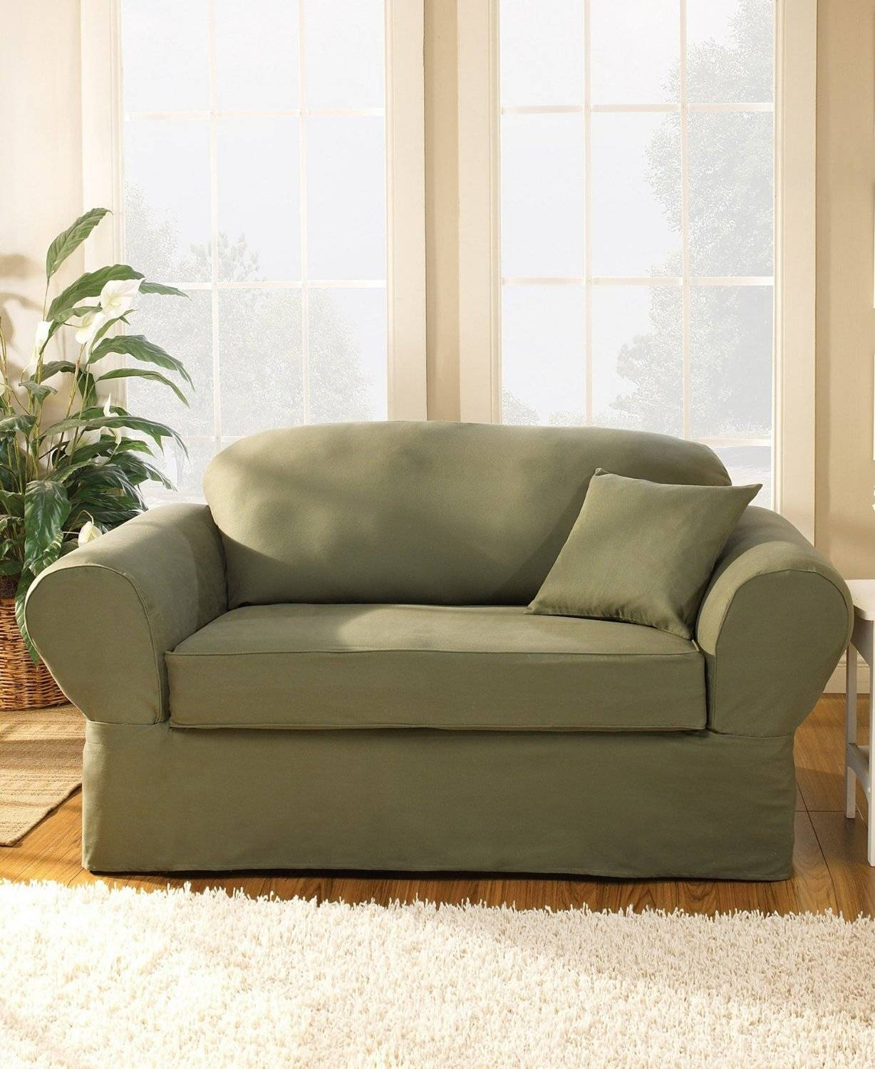 Furniture: Protect Your Lovely Furniture With Sure Fit Slipcovers regarding Loveseat Slipcovers 3 Pieces (Image 5 of 15)