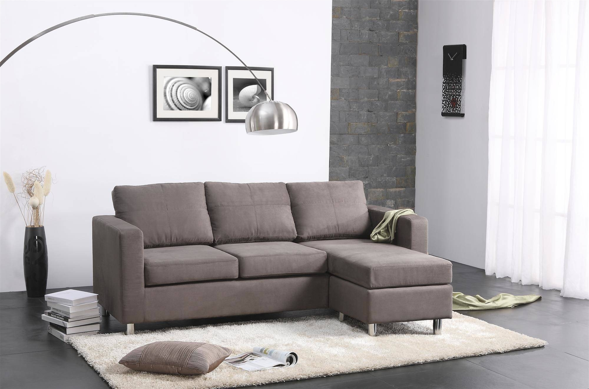 Furniture & Sofa: Small Spaces Configurable Sectional Sofa Inside Small Spaces Configurable Sectional Sofas (View 14 of 15)