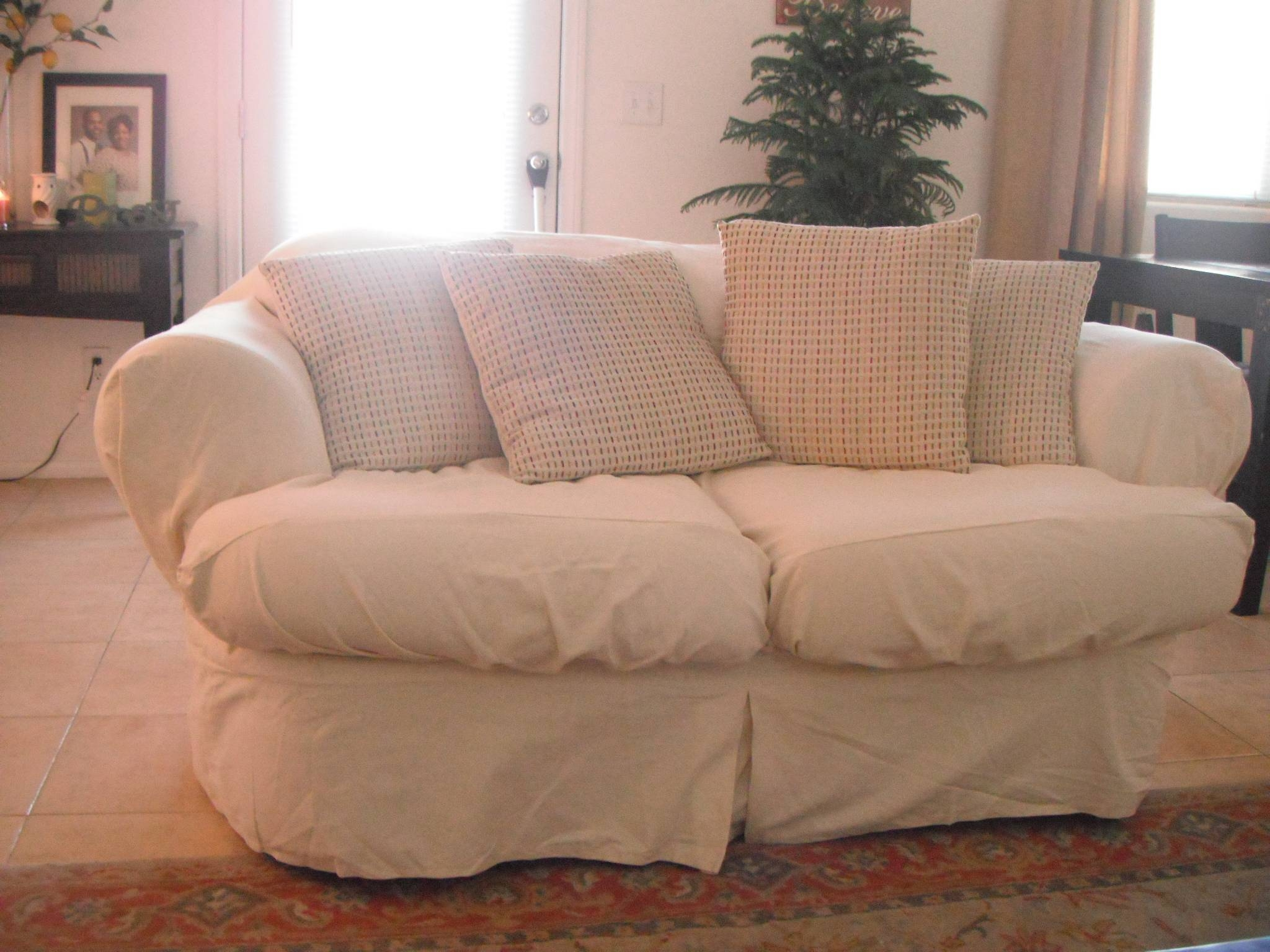 Furniture & Sofa: Stunning Sure Fit Sofa Covers Design For within Armless Couch Slipcovers (Image 7 of 15)