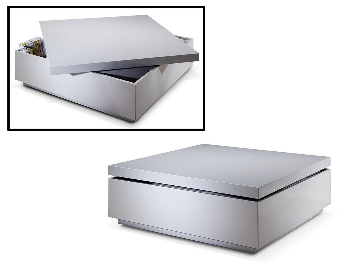 Furniture: Solid Wood Coffee Table With Storage | Slim Coffee within Modern Coffee Tables With Storage (Image 7 of 15)
