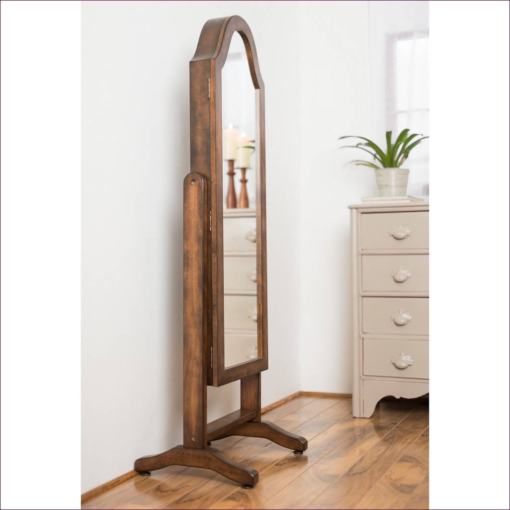 Furniture : Stand Alone Floor Mirror Distressed Wood Floor Mirror inside Long Thin Mirrors (Image 11 of 15)