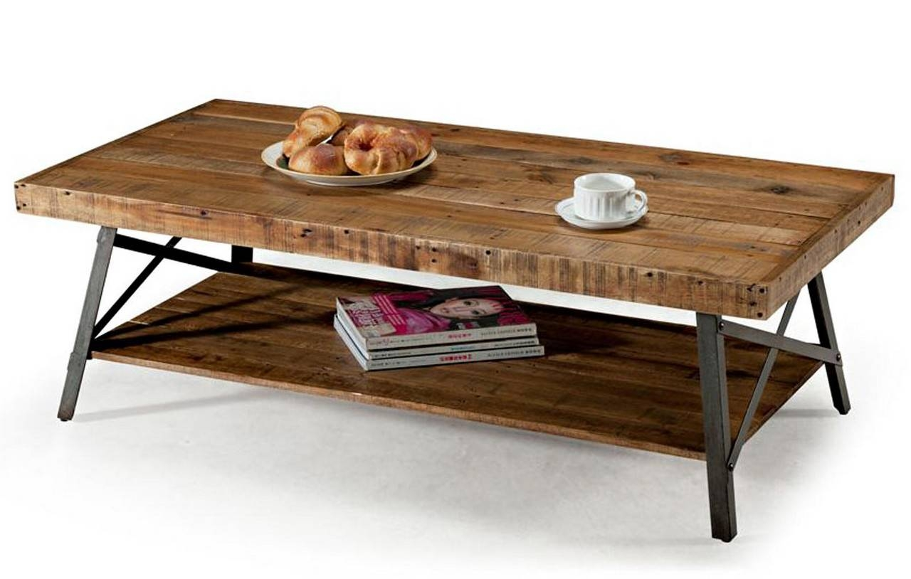 Furniture: Weathered Coffee Table | Reclaimed Wood Coffe Table Pertaining To Reclaimed Oak Coffee Tables (View 5 of 15)