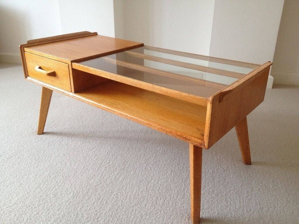 G Plan Retro Vintage 50S Brandon E Gomme Oak Coffee Table–Very intended for Retro Oak Coffee Tables (Image 9 of 15)