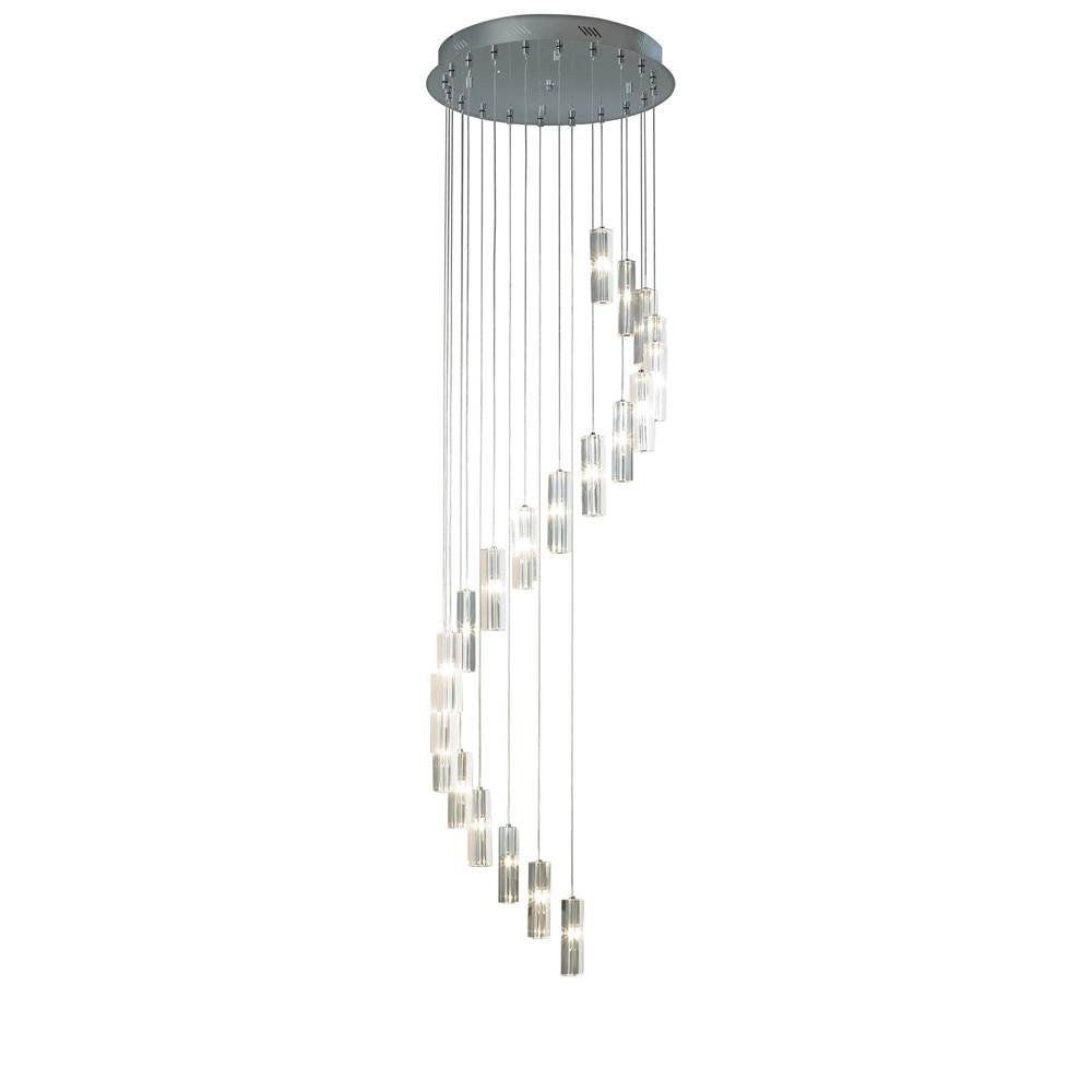 Gal3350 Galileo 20 Light Polished Chrome Pendant With Next Pendant Lights (View 4 of 15)