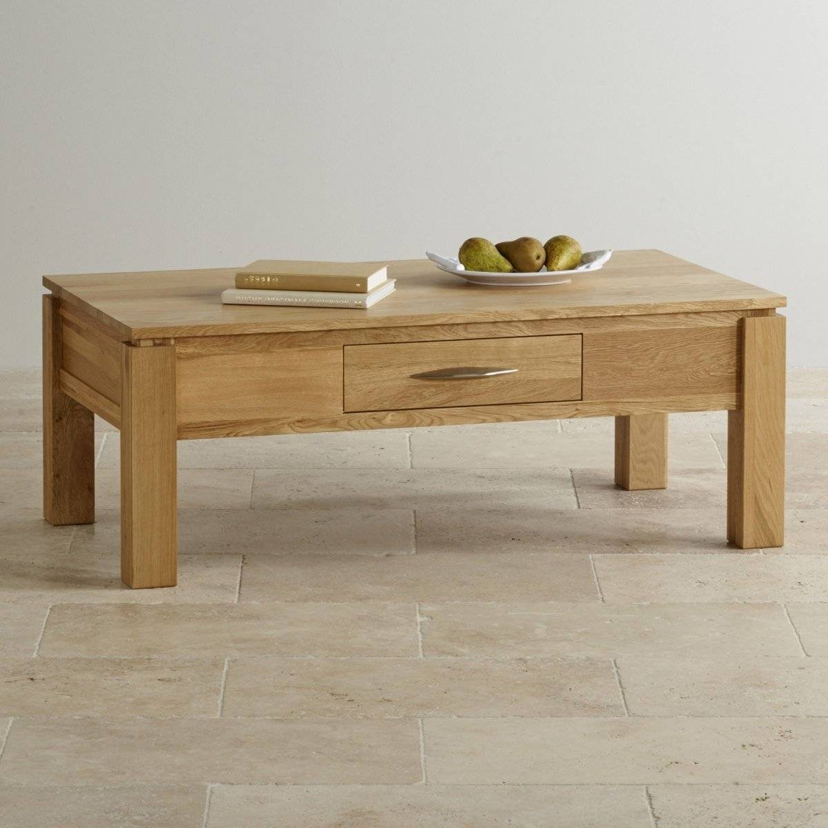 Galway Large Coffee Table In Solid Oak | Oak Furniture Land in Oak Wood Coffee Tables (Image 7 of 15)