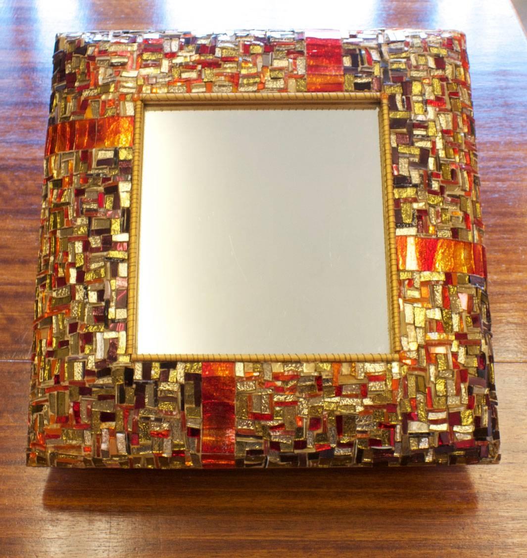 Gba&d Design Room | Bronze, Orange, Red & Purple In Mosaic Mirror within Bronze Mosaic Mirrors (Image 8 of 15)