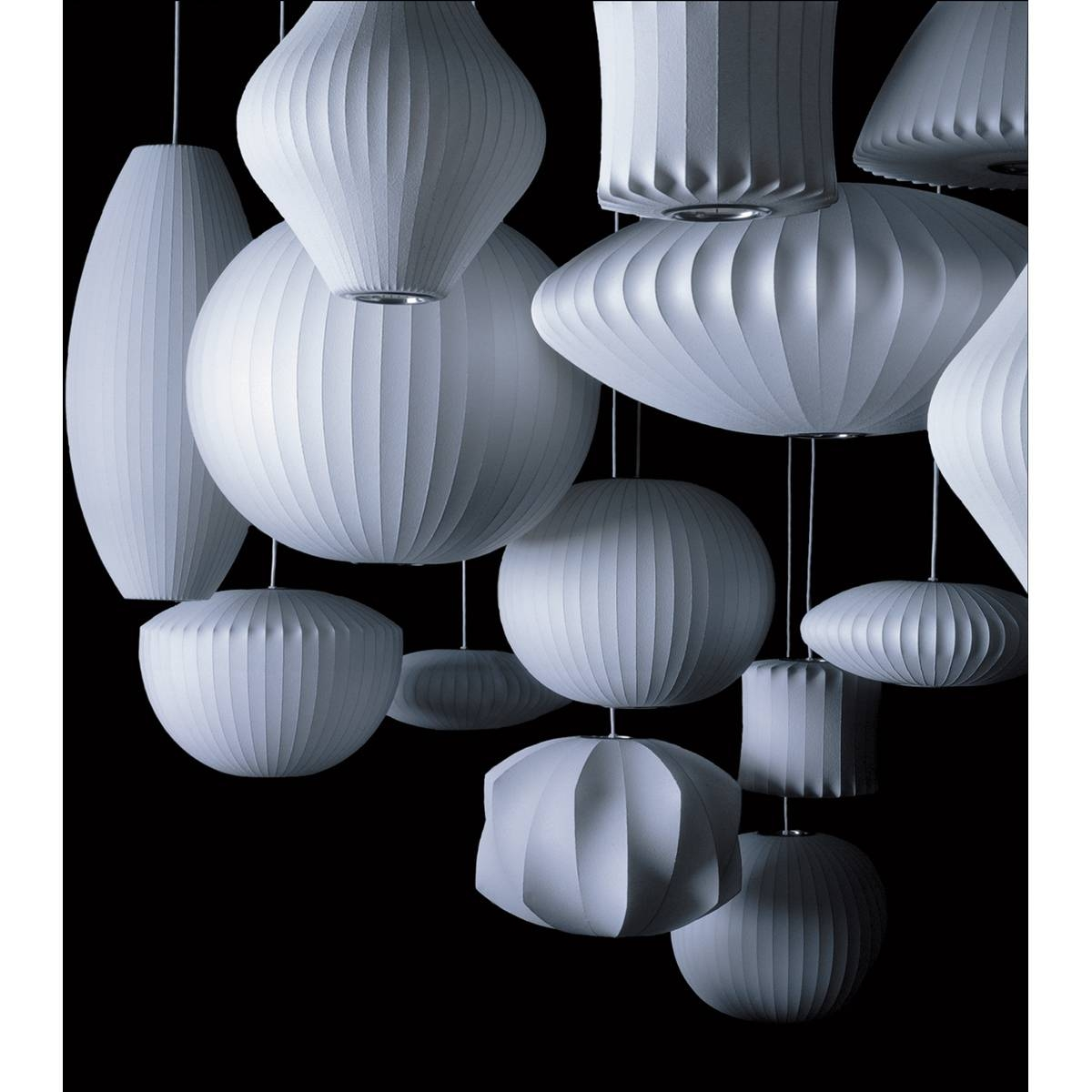 George Nelson Bubble Pendant - Cigar | George Nelson | Horne with regard to Nelson Pendant Lights (Image 10 of 15)