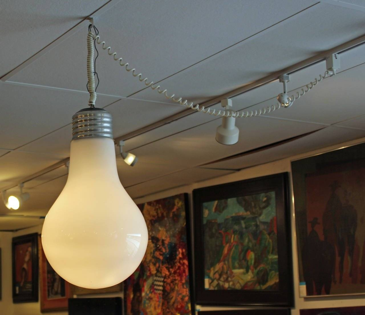 Giant Light Bulb Pendant Hanging Light Fixture At 1Stdibs with Giant Lights Bulb Pendants (Image 11 of 15)