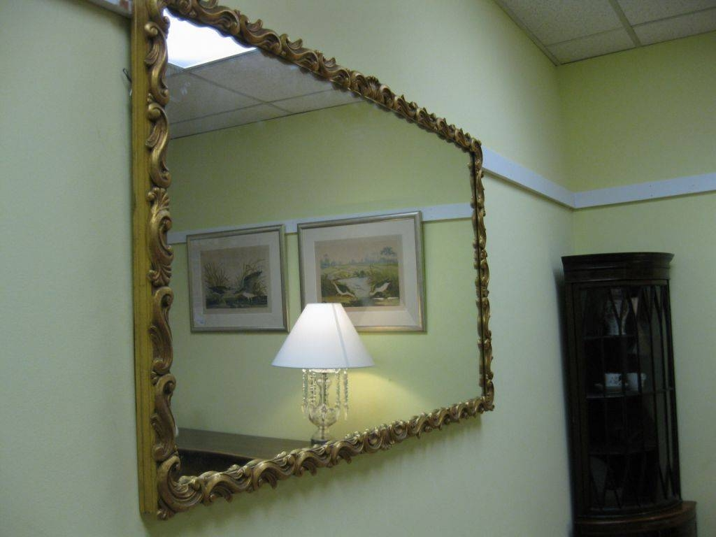 Gilt-Framed Mirror Sold with Large Gilt Framed Mirrors (Image 3 of 15)