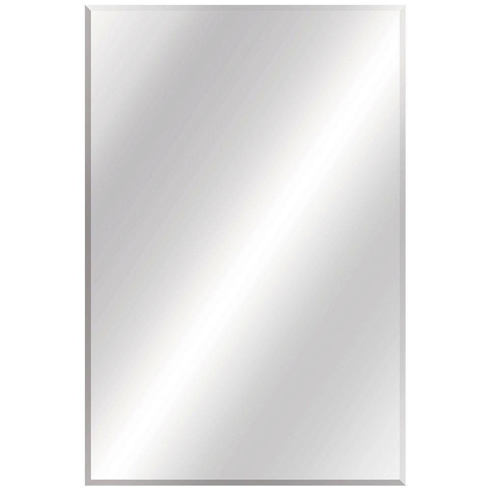 Glacier Bay 24 In. W X 36 In. L Beveled Edge Bath Mirror-81185 for Bevel Edged Mirrors (Image 8 of 15)