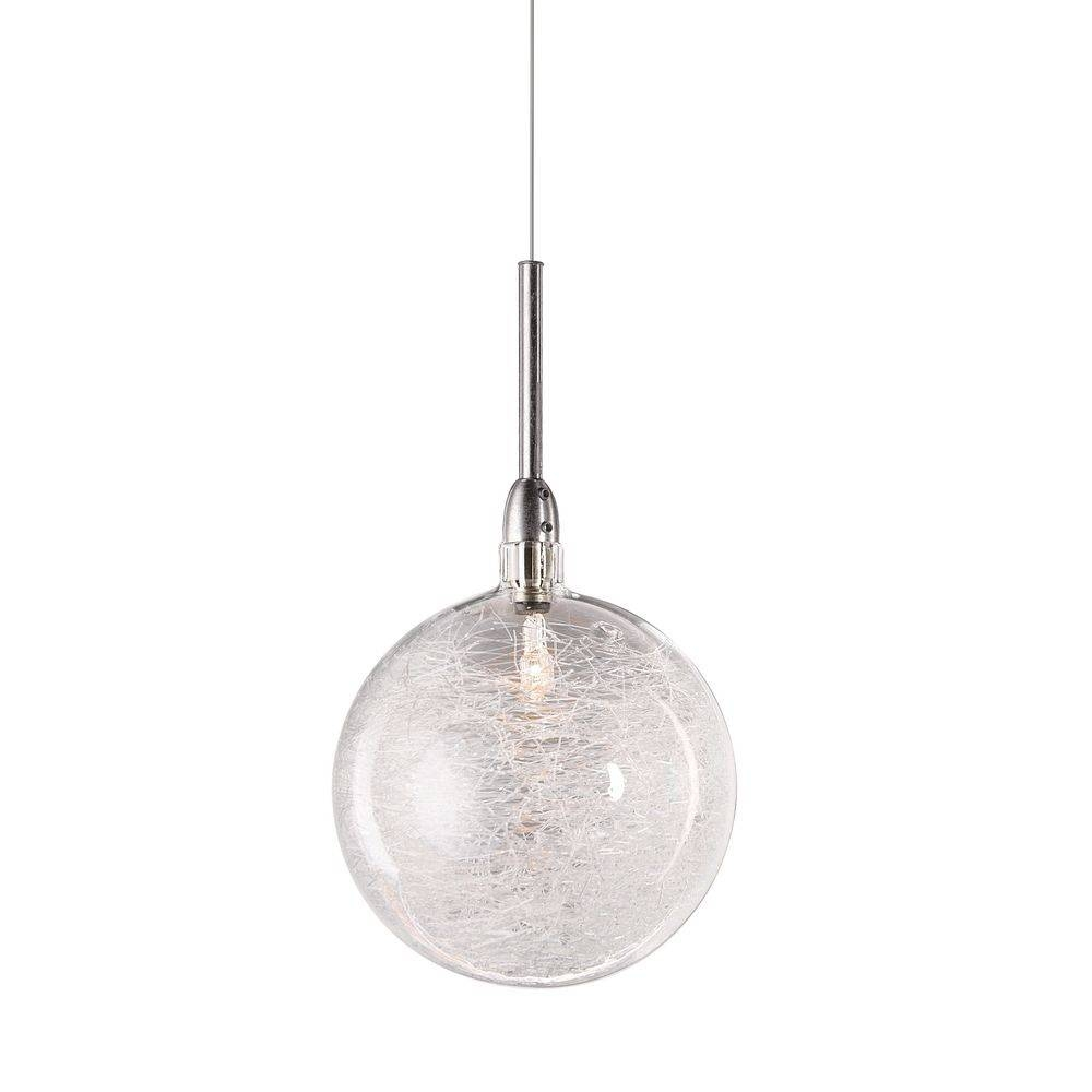 Glass Ball Pendant Light   Baby Exit Regarding Silver Ball Pendant Lights  (Image 7