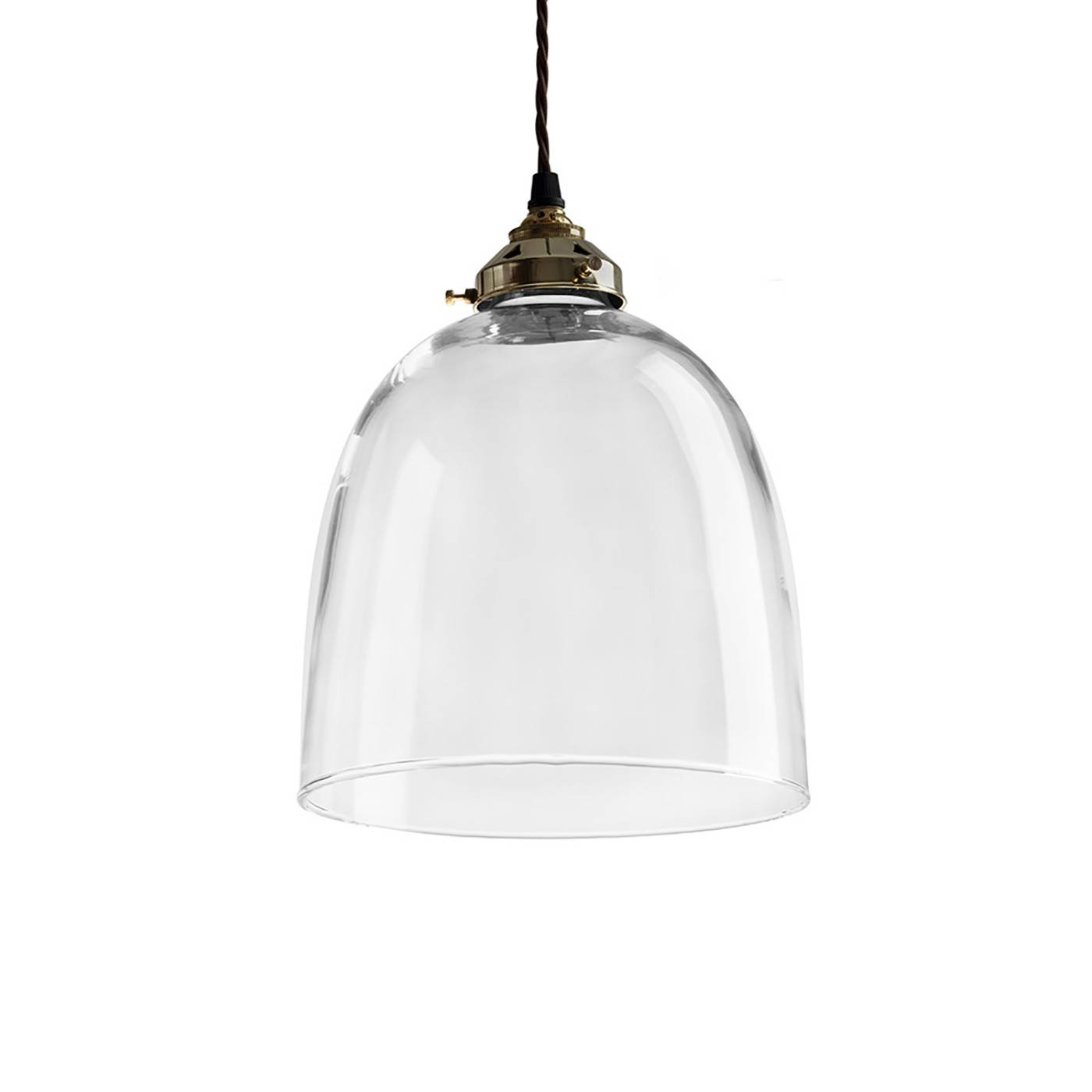 Glass Bell Pendant Light Antique Metal Fittings Extra Large with regard to Glass Pendant Lights Fittings (Image 9 of 15)