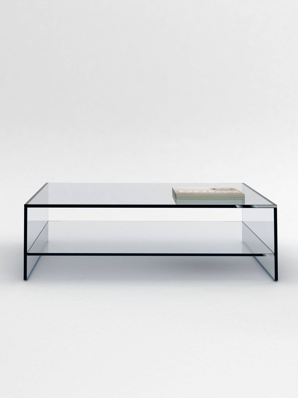Glass Coffee Table With Shelf - Coffee Tables Made To Order. in Square Glass Coffee Tables (Image 5 of 15)