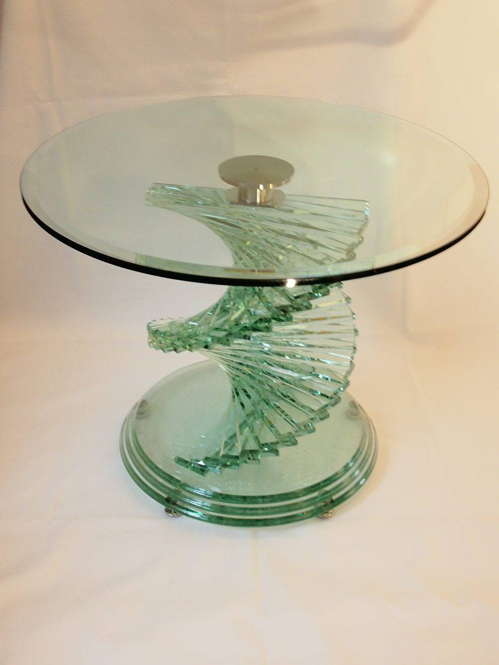 Featured Photo of Spiral Glass Coffee Table