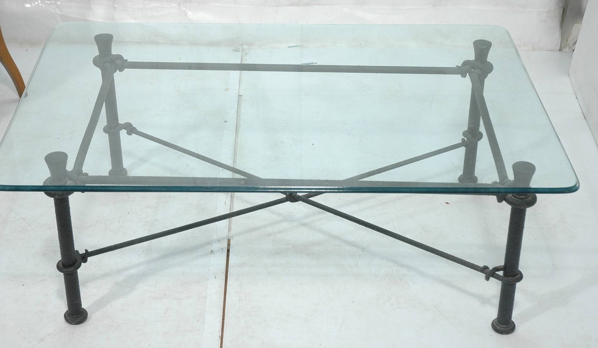 Glass Coffee Tables: Captivating Wrought Iron Glass Top Coffee Intended For Iron Glass Coffee Table (View 8 of 15)