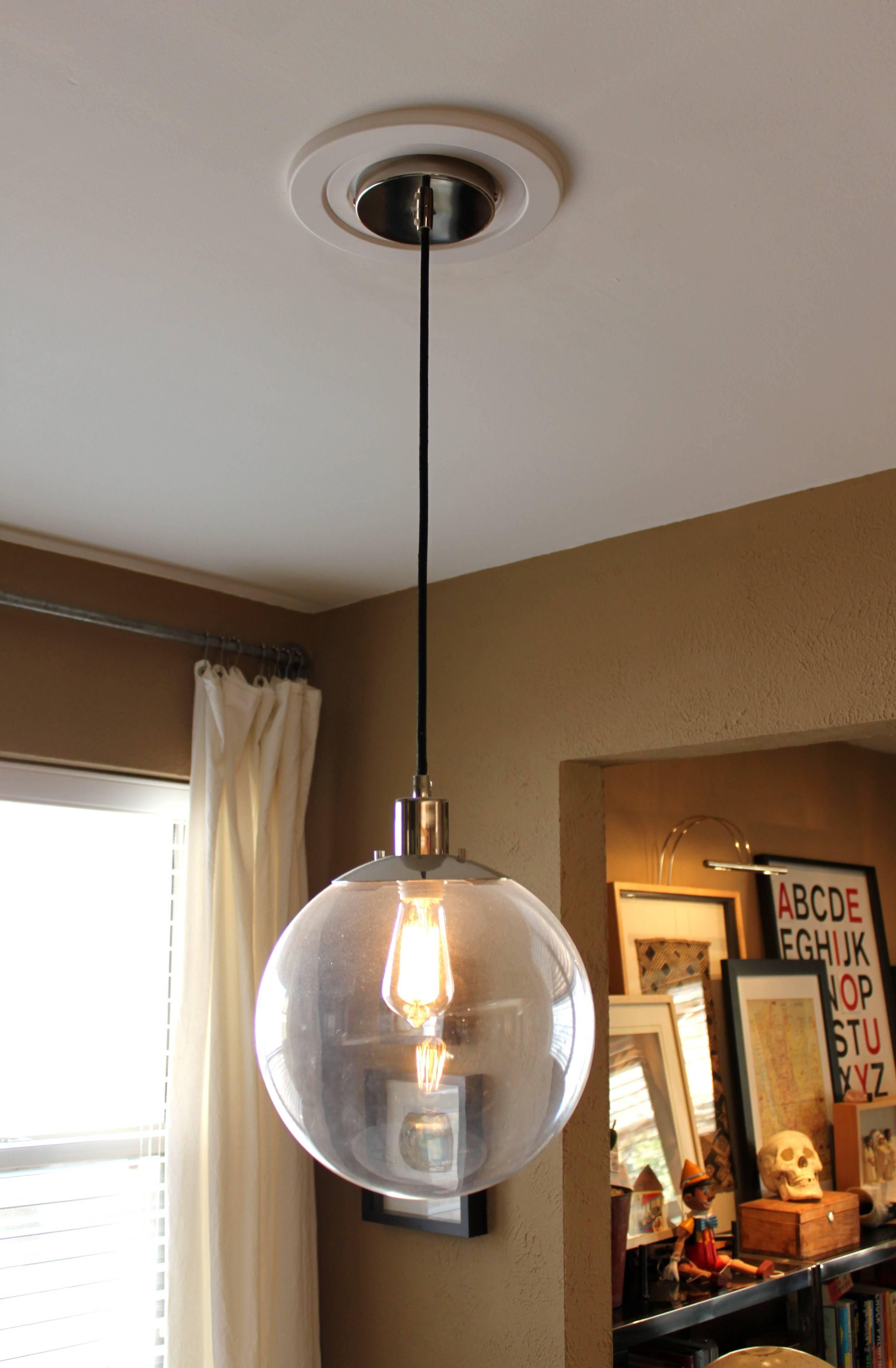 Glass Globe Pendant Lighting. Clear Seeded Glass Globe Pendant inside Large  Glass Ball Pendant Lights