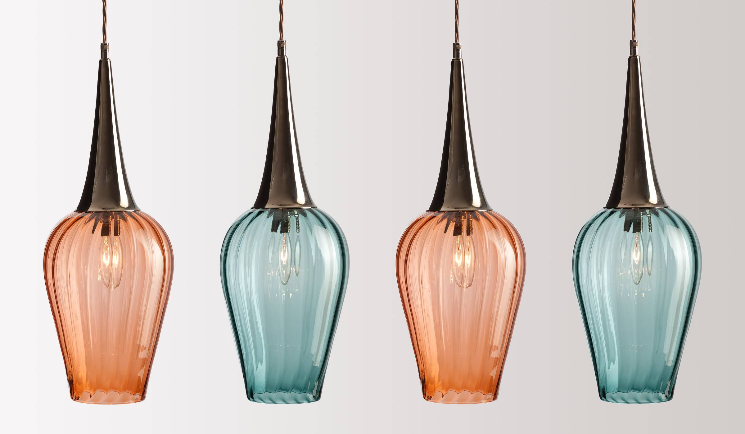 Glass Lighting - Rothschild & Bickers regarding Coloured Glass Pendant Lights (Image 6 of 15)