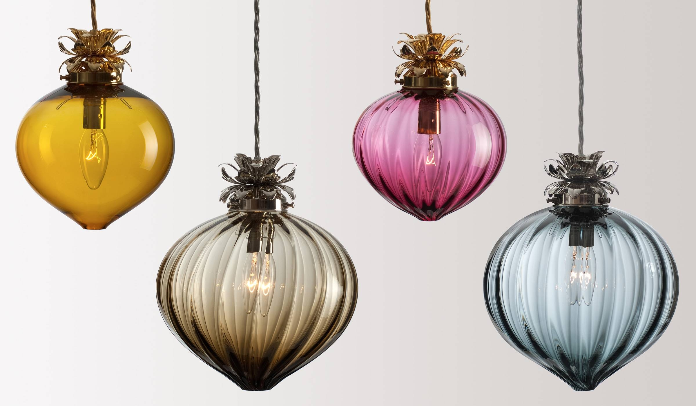 Glass Lighting - Rothschild & Bickers throughout Coloured Glass Pendant Lights (Image 7 of 15)
