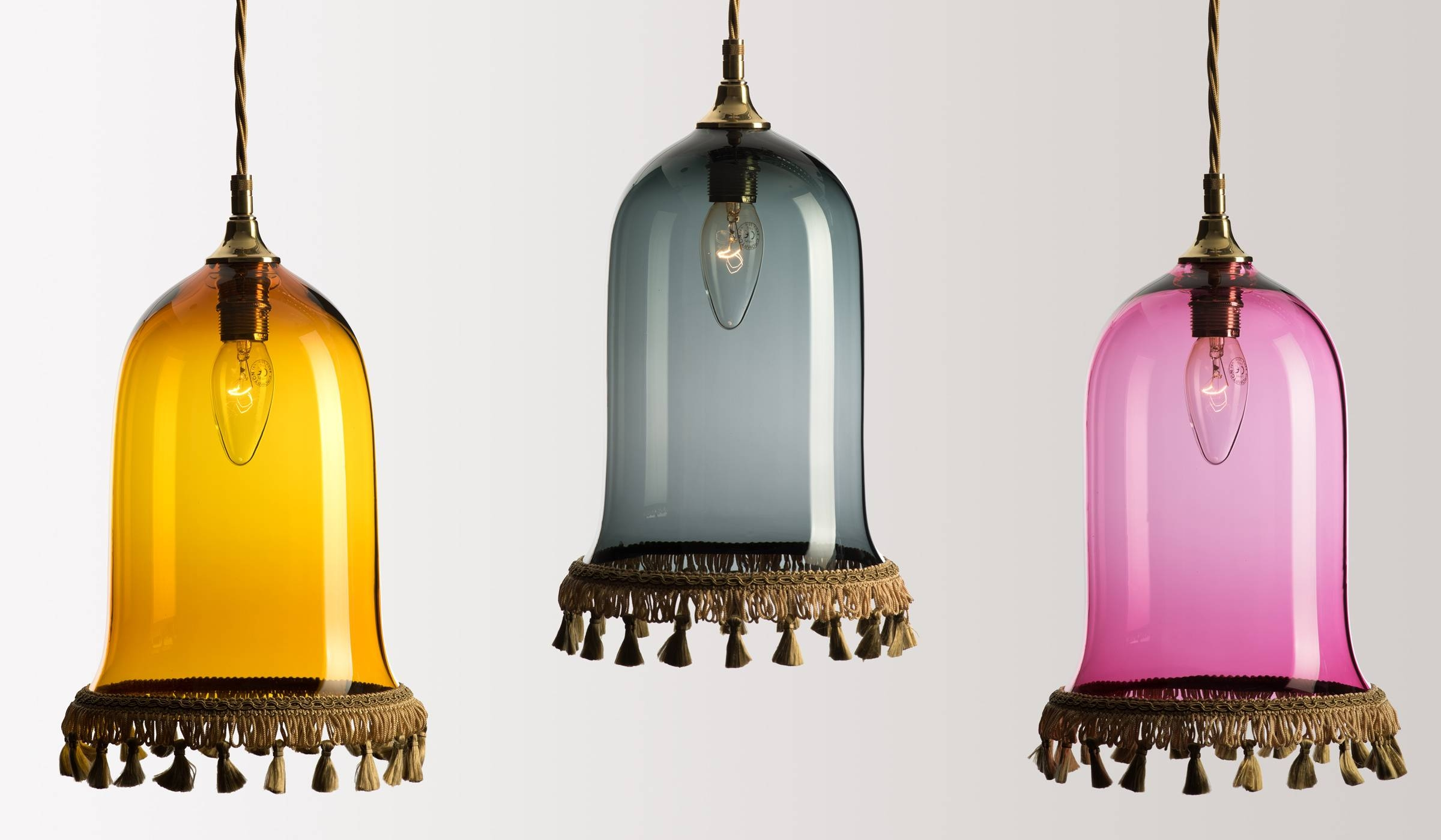 Glass Lighting - Rothschild & Bickers with regard to Coloured Glass Lights (Image 11 of 15)