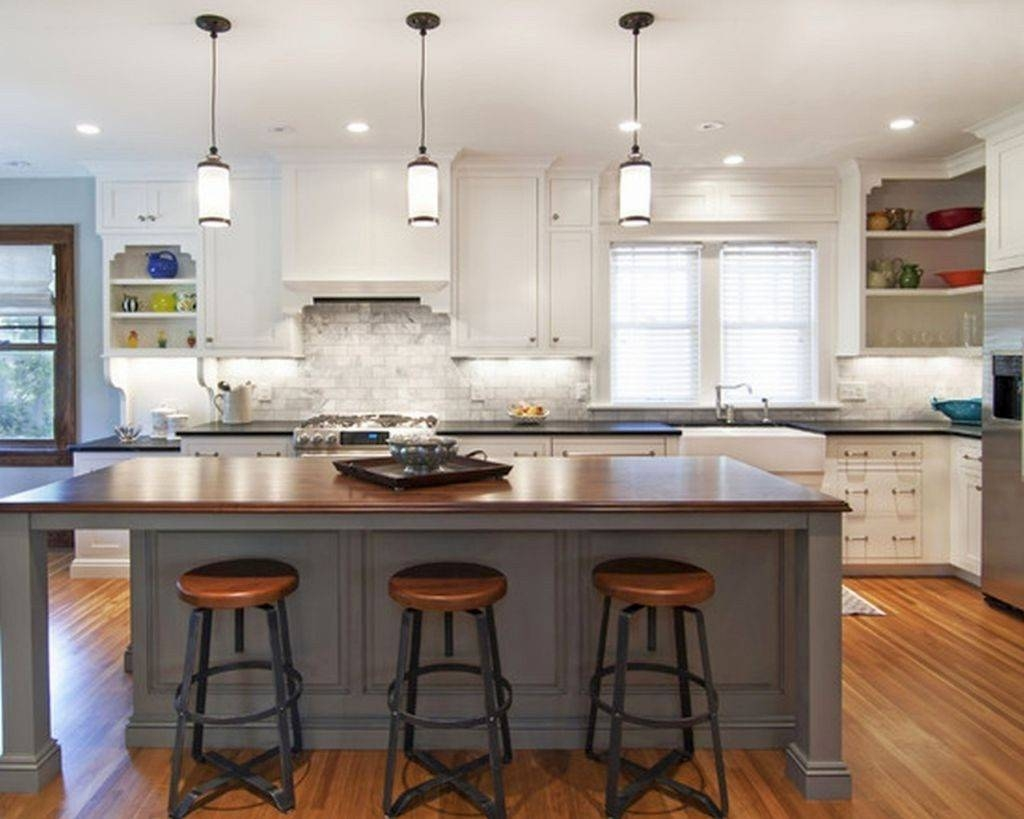Glass Pendant Lights For Kitchen Island Laminate Oak Wood Flooring pertaining to Pendant Lights for Vaulted Ceilings (Image 6 of 15)