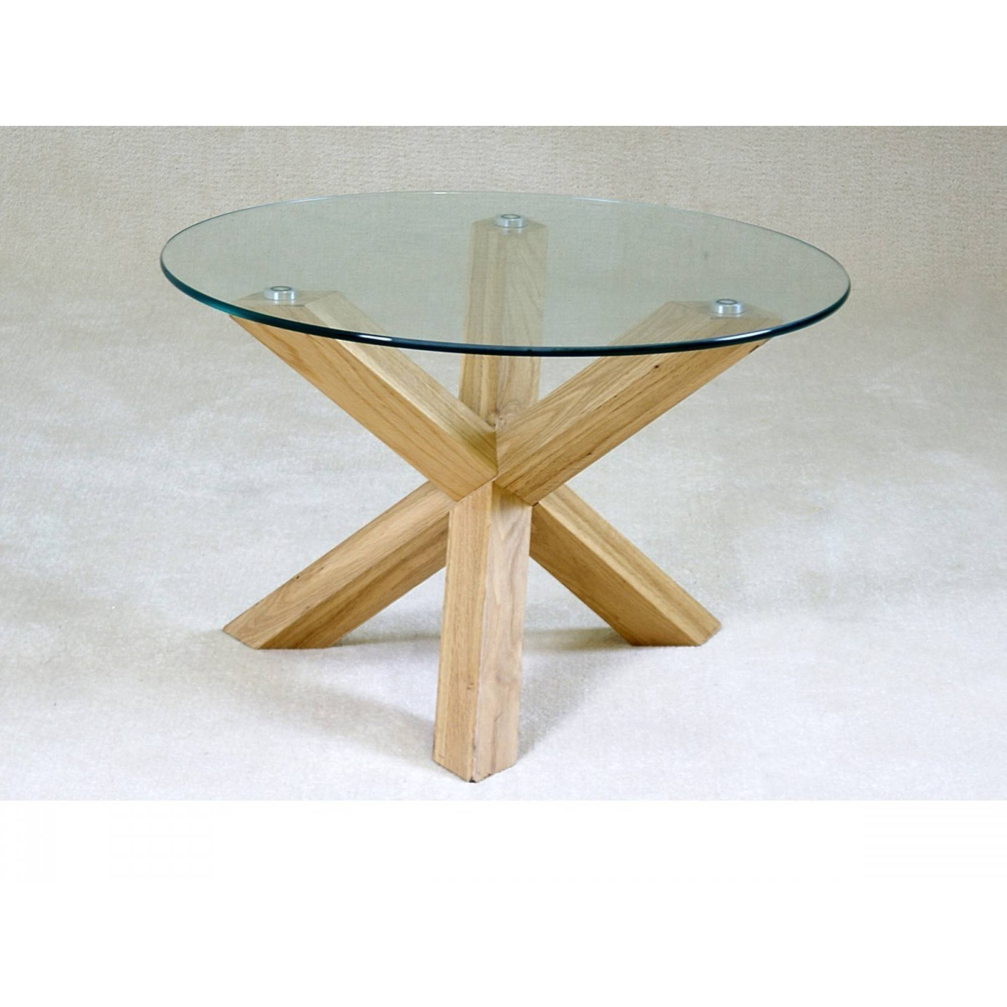 Glass Top Oak Coffee Table / Coffee Tables / Thippo pertaining to Glass Oak Coffee Tables (Image 9 of 15)
