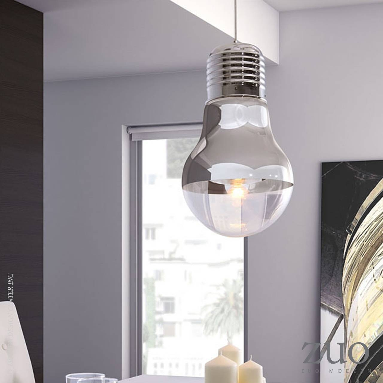Gliese Ceiling Lamp - 50089 | Zuo Mod | Metropolitandecor with Giant Lights Bulb Pendants (Image 12 of 15)