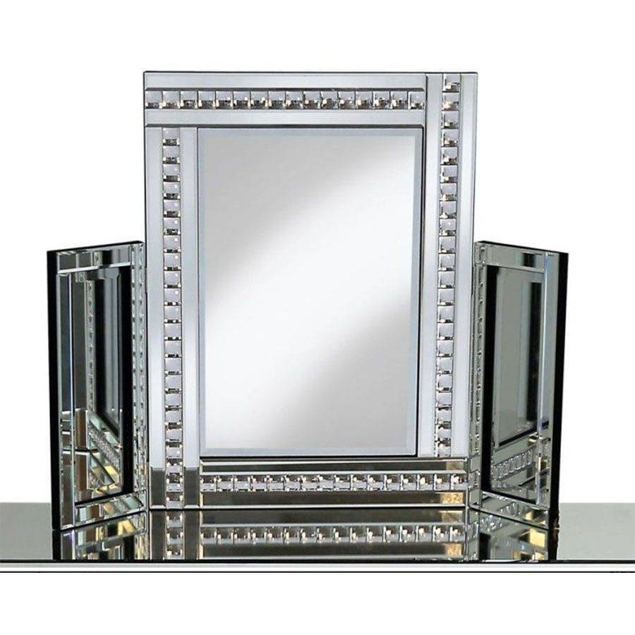 Glitz Silver Dressing Table Mirror Furniture Mill Outlet Within Silver Dressing Table Mirrors (View 12 of 15)
