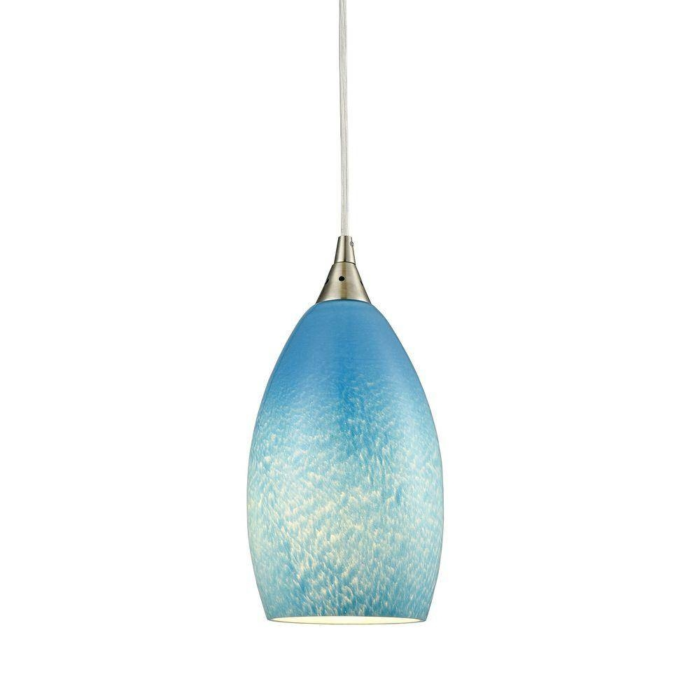 Globe - Blue - Pendant Lights - Hanging Lights - The Home Depot regarding Aqua Pendant Lights (Image 8 of 15)