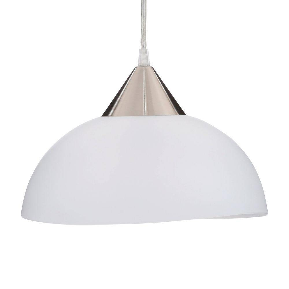 Globe Electric Amris 1-Light 11 In. Plug-In White Hanging Pendant pertaining to Plugin Ceiling Pendant Lights (Image 3 of 15)