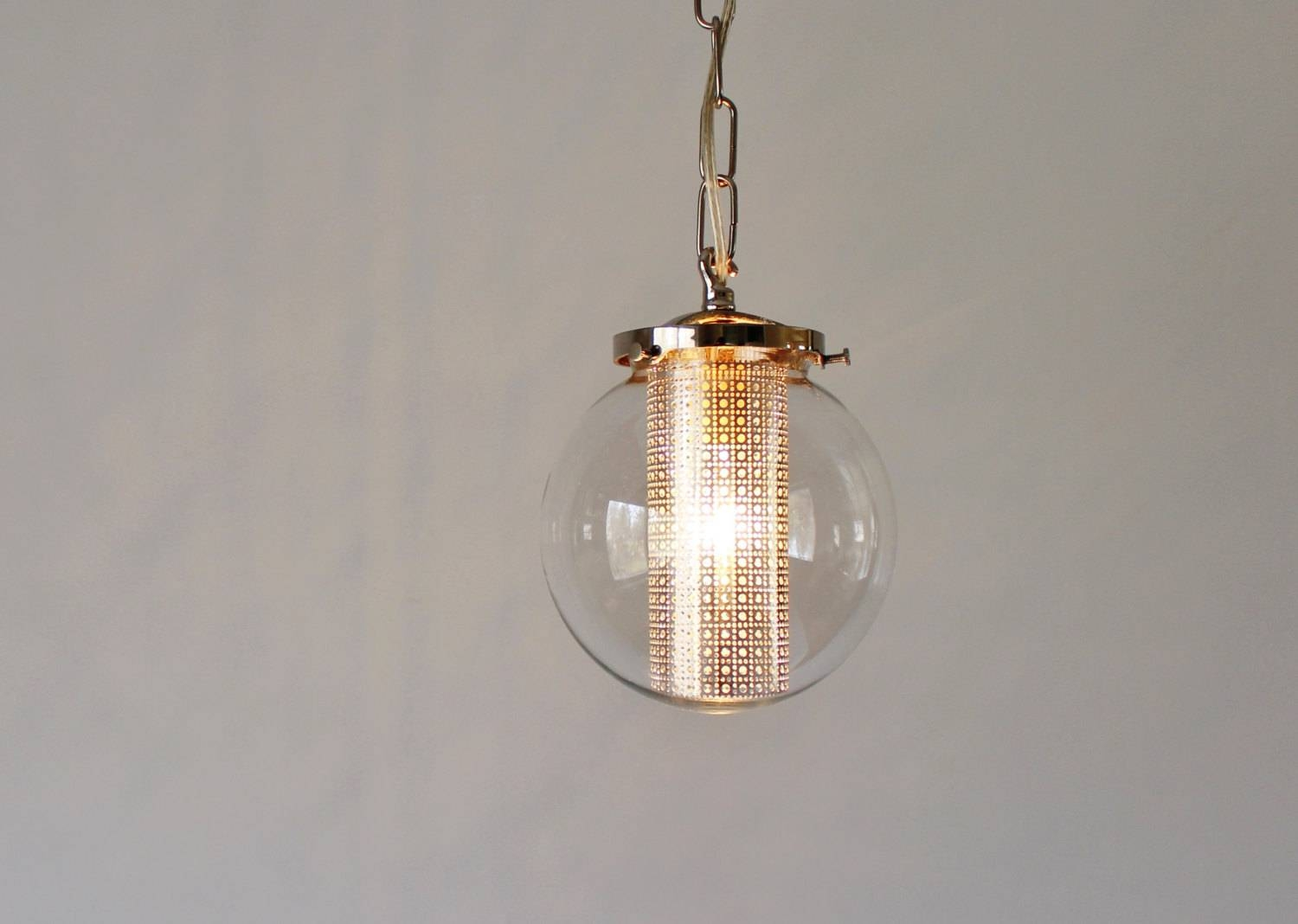 Globe Pendant Light Modern Hanging Pendant Lamp Clear Glass with regard to Etsy Pendant Lights (Image 5 of 15)