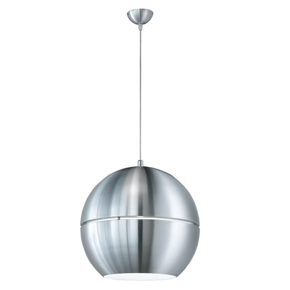 Globe Pendant Light Shades - Brushed Aluminium Metal Body within Tubular Pendant Lights (Image 8 of 15)