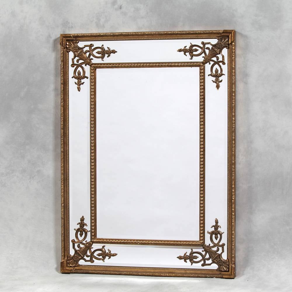 Gold French Style Cimiero Mirror 120 X 88Cm Gold Cimiero Wall within French Style Mirrors (Image 9 of 15)