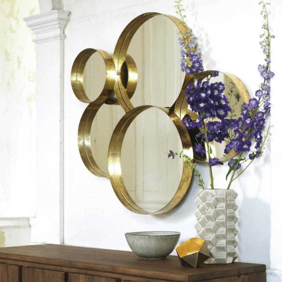 Gold Lamour Round Mirror | Mirrors | Graham And Green with regard to Round Mirrors (Image 4 of 15)