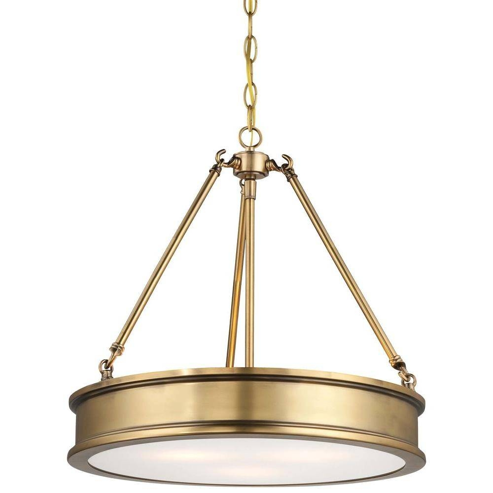 Gold - Minka Lavery - Pendant Lights - Hanging Lights - The Home Depot within Minka Lavery Pendant Lights (Image 2 of 15)